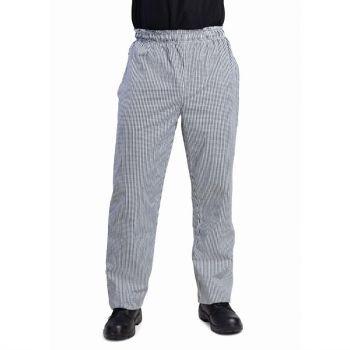 Whites Vegas unisex koksbroek zwart-wit geruit XL