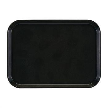 Cambro EpicTread rechthoekig antislip glasvezel dienblad zwart 35x27cm