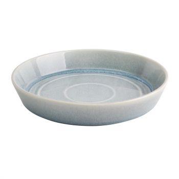Olympia Cavolo platte ronde schaal ijsblauw 22cm