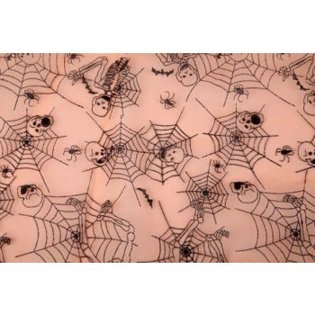 Cosy @ Home Decostof Org.oranje Web Skelet 40x200cm