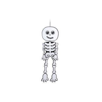 Cosy @ Home Hanger Skelet Zwart Wit Vilt 30x100cm