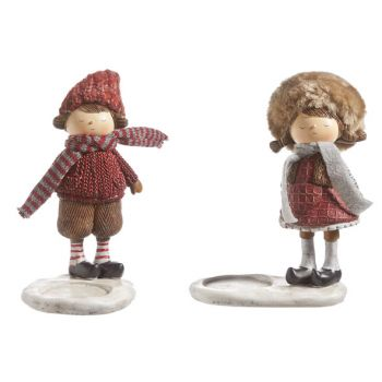 Cosy @ Home Lily Kids Theelichth. 2 Types Rood Bruin