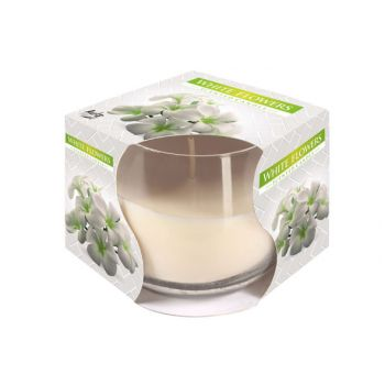 Cosy & Trendy Ct Geurkaars Glas White Flowers-wit
