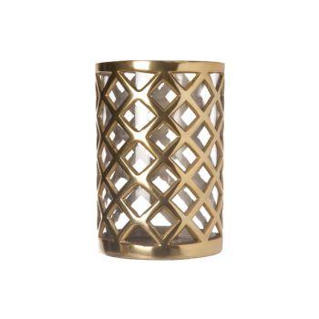 Cosy & Trendy Windlicht Aluminium-glas 24x16x16cm