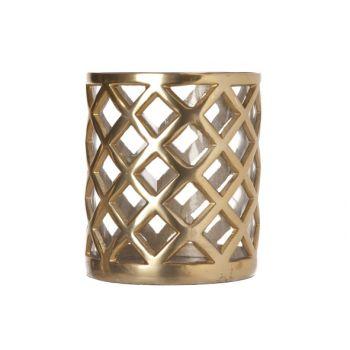 Cosy & Trendy Windlicht-aluminium-glas 16x14x14cm