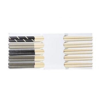 Cosy & Trendy Chopsticks Zwart 22.5cm Set 5 Paar