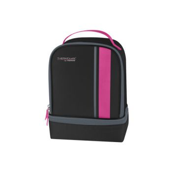 Thermos Neo Dual Compartm Lunchkit Zwart-pink