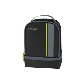 Thermos Neo Dual Compartm Lunchkit Zwart-lime
