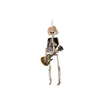 Cosy @ Home Skelet Met Gitaar Hangend 6x9x40cm