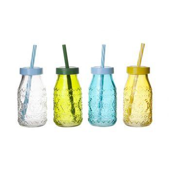 Cosy & Trendy Flesje Gekleurd Glas D6xh12cm 4 Types