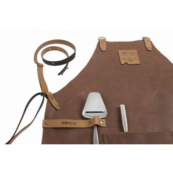 Boska Mr Smith Keukenschort Leder Bruin Pocket