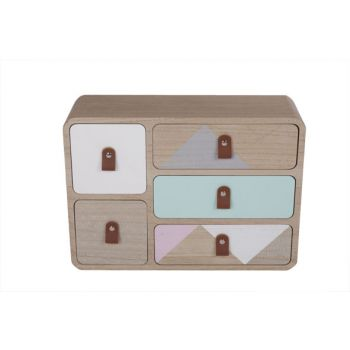 Cosy @ Home Ladenkast Retro Hout 33x11x28.5cm