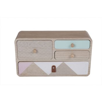 Cosy @ Home Ladenkast Retro Hout 34x11x24cm