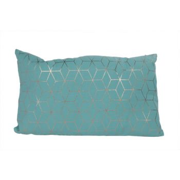 Cosy @ Home Kussen Geometric Gold Turquoise 30x50cm