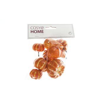 Cosy @ Home Pompoen Set8 Oranje Kunststof 3,3x3,3xh3