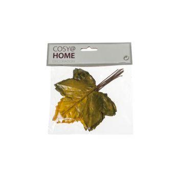 Cosy @ Home Herfstbladeren Set12 Geel Kunststof