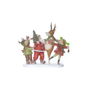 Cosy @ Home Kerstman Rood Groen Polyresin 25,7x8,1xh