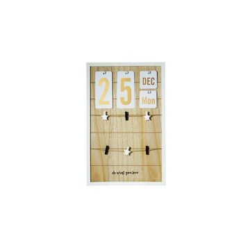Cosy @ Home Kalender-memo Bord Hout 32x3xh50cm