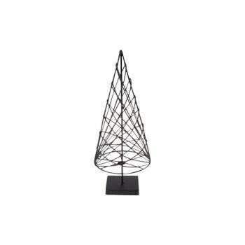 Cosy @ Home Kerstboom Kegel Metaal Zwart 10x10x25cm