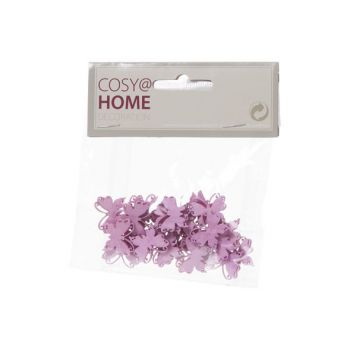 Cosy @ Home Vlinders Deco 24pcs In Polybag Roze 2x2c