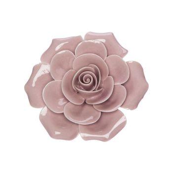 Cosy @ Home Roos Roze 6x6xh3cm Porselein