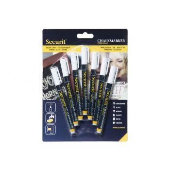 Securit Krijtstift Set7 Liquid 1-2mm Wit
