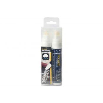Securit Krijtstift Set2 Waterproof Wit 7-15mm