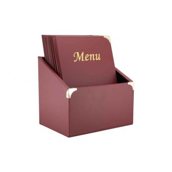Securit Basic 10x Menuhouder In Box A4 Bordeaux