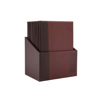Securit Trendy 20x Menuhouder In Box Bordeaux A4