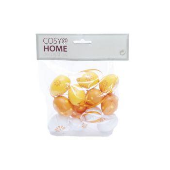 Cosy @ Home Paasei Set12 Mix Oranje 4cm Kunststof