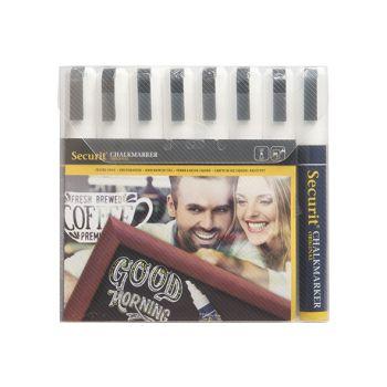 Securit Krijtstift Set8 Liquid Wit 2-6mm