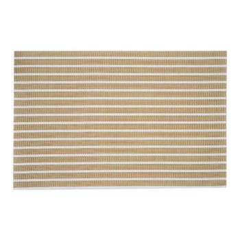 Cosy & Trendy Placemat Pvc Gewoven Wit-goud 45x30cm