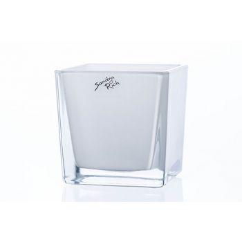 Sandra Rich Theelichtglas Wit 10x10xh10cm