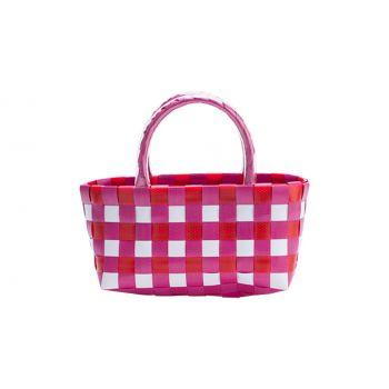 Cosy & Trendy Trendy Tasje Roze-rood 17x8xh10cm