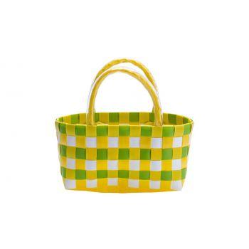 Cosy & Trendy Trendy Tasje Geel-groen 17x8xh10cm