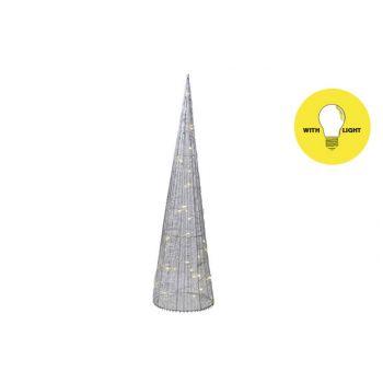 Cosy @ Home Piramide Silk 35led Ww Zilver D16xh60cm