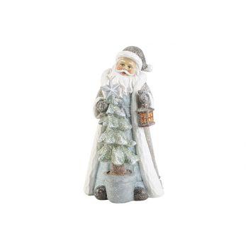Cosy @ Home Kerstman With Light Grijsblauw 11x11xh21