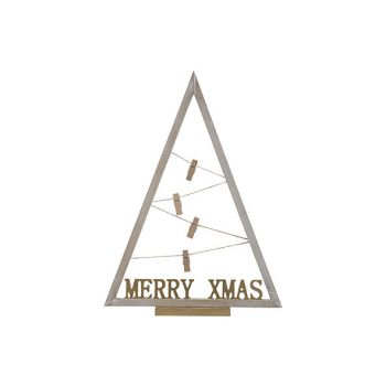 Cosy @ Home Kerstboom Photoclips Wit 36x8xh50cm Hout