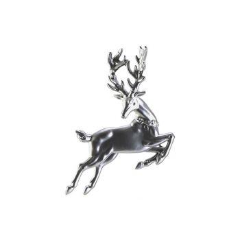 Cosy @ Home Hanger Deer Zilver 12x2xh12cm Kunststof