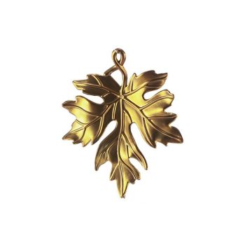 Cosy @ Home Hanger Leaf Goud 11x1xh12cm Kunststof