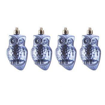 Cosy @ Home Hanger Set4 Owl Lila 4x4xh9cm Kunststof