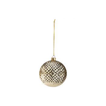 Cosy @ Home Kerstbal Diamond Goud D8cm Kunststof