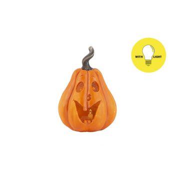 Cosy @ Home Pompoenhoofd Face Oranje 9,5x9xh13,5cm O