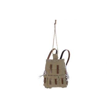 Cosy @ Home Rugzak Ornament Hanging Greige 7,5x4,5xh