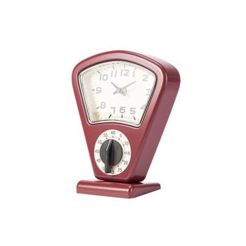 Cosy & Trendy Timer En Uurwerk Rood 17,5x10xh21cm