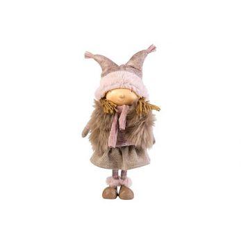 Cosy @ Home Lotte Standing Fur Sand Roze 18x11xh41cm