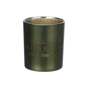 Cosy @ Home Theelichtglas Shine Bright Groen D9xh10c
