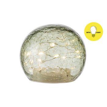 Cosy @ Home Bal Led Lamp Groen D12xh10cm Glas