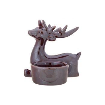 Cosy @ Home Theelichthouder Lustre Finish Deer Antle