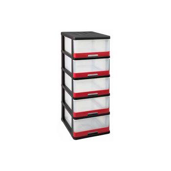 Keter Hercule Ladesysteem 5x25l Zwart-rood